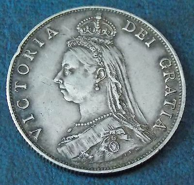 1887 Silver Florin Two Shilling Coin Very Nice Collectable Condition