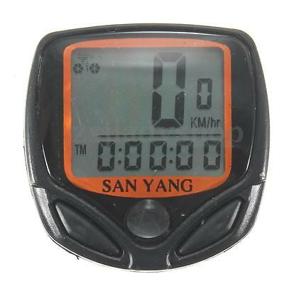 Electronic Cycling Bicycle Bike Wired LCD Computer Speedometer Speedo Odometer