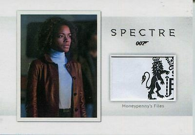 James Bond Archives 2016 Spectre Relic Card MR4 Moneypenny's Files