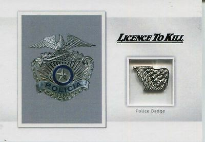 James Bond Archives 2016 Spectre Relic Card MR5 Police Badge