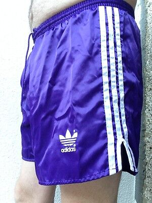 "Vintage Purple Shiny Glanz Nylon Adidas Shorts - Size 38"" / D8 / Xl"