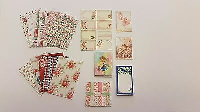 Modern stationary notepad giftwrap calendar fairies 1:12t scale dolls house KIT