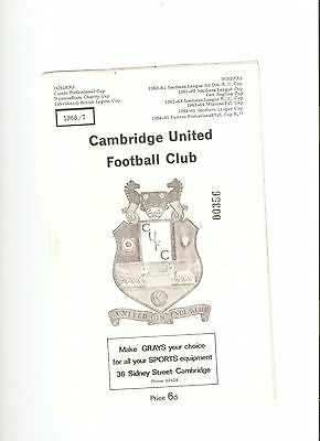 Cambridge United v Corby Town 1966-67