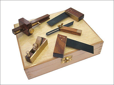 Faithfull Miniset5 Set Of 5 Mini Woodworking / Model Making Tools In Wooden Case