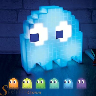 Pac-Man Ghost Light USB Colour Changing Retro Mood Lamp PC Desk Gadget