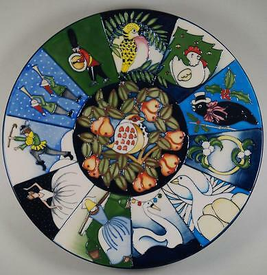 "MOORCROFT Twelve Days Of Christmas 11"" Plate 12 Designs Kerry Goodwin 2nd"