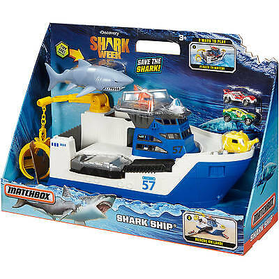 Matchbox Car-Go Mission Marine Rescue Commander Shark Week Ship Boat ~ BRAND NEW