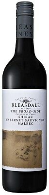 Bleasdale `The Broad-Side` Shiraz Cabernet Malbec 2014 (6 x 750mL), SA.