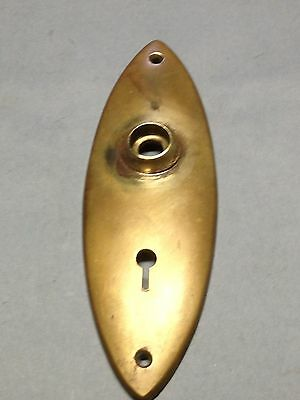 Antique Vintage Cast Brass Arts And Crafts Door Knob Key Hole Lock Plate Part