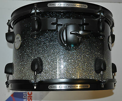 "Mapex  10""x 8"" Meridian maple tom in Galaxy sparkle fade Black hardware"