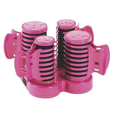 Carmen Girls Womens Heated Hair Roller Curler 10 Piece Curling Styling Set Pink