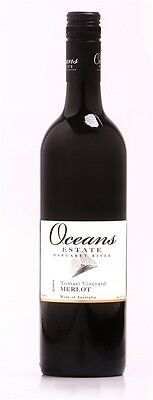 Oceans Estate `Tomasi Vineyard` Merlot 2008 (12 x 750mL), Margaret River.