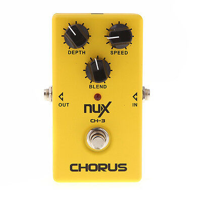 New Yellow NUX CH-3 Chorus Low Noise Guitar Electric Effect Pedal True Bypass