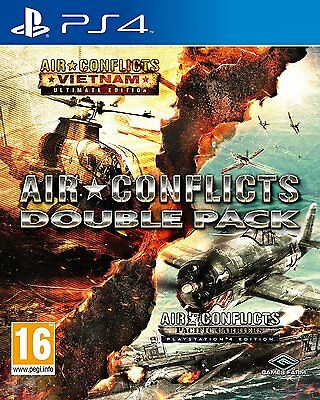 NEW & SEALED! Air Conflicts Double Pack Sony Playstation 4 PS4 Game