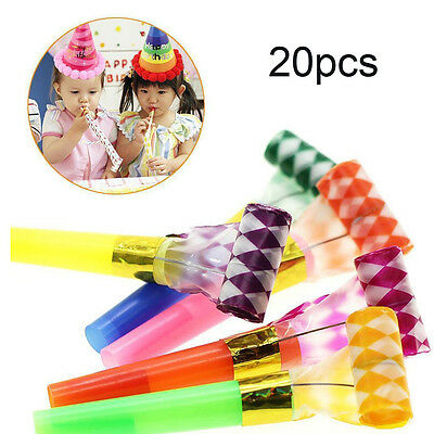 20pcs Blowout Party Jazzy Whistle Blow Out Favour Bag Filler Kids Birthday sale