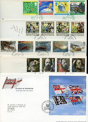 Great Britain Lot Iii  Of 60 Different Official Addressed First Day Covers