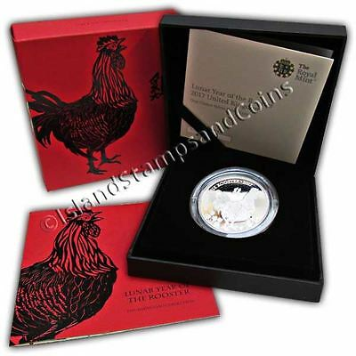 Lunar Year of the Rooster 2017 UK One Ounce Silver Proof Coin