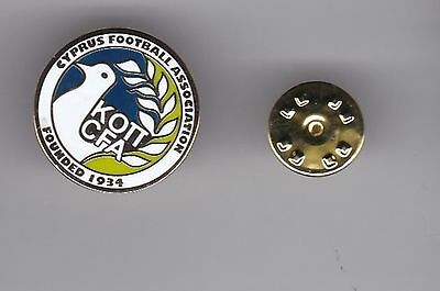 Cyprus Football Association - lapel badge butterfly fitting