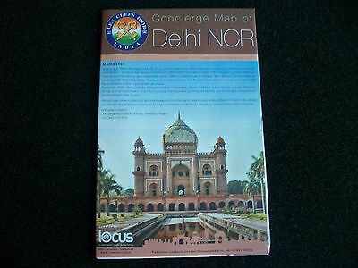 DELHI MAP  INDIA  Concierge Map very detailed of all areas  December 2016