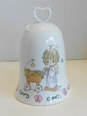 Enesco Porcelain Bell Precious Moments Bringing Gods Blessing To You Angel