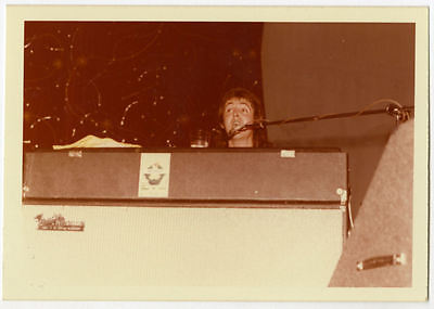 Paul McCartney Wings 1973 Fatman Tour Onstage Photograph