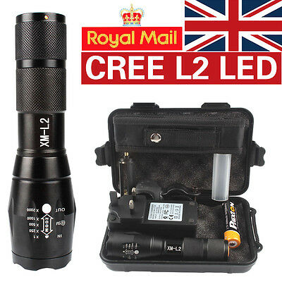X800 Shadowhawk 6000lm Tactical Flashlight CREE L2 LED Military Torch Gift Kit