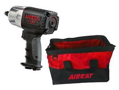"""AirCat 1/2"""" 1295 / lbs Loosening Torque Composite  Impact Wrench with Bag 1150"""