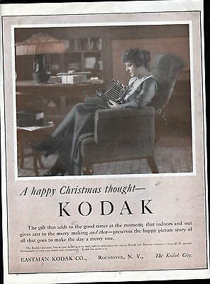 Old Kodak Camera Girls Christmas Gift Ad