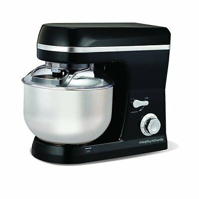 Morphy Richards – 800W Accents Electric Plastic Stand Mixer – Black - 400011