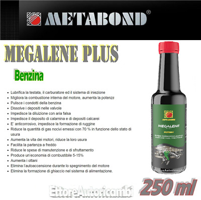 Metabond Megalene Plus - Additivo Benzina 250Ml-Trattamento Benizna High Quality
