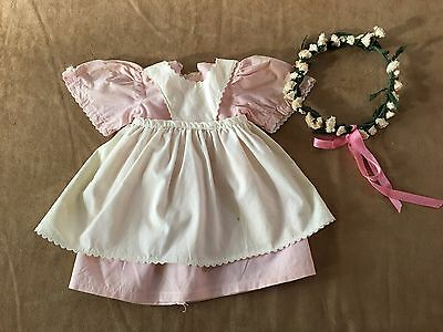 Pleasant Co Kirsten Birthday outfit dress apron doll daisy wreath American Girl