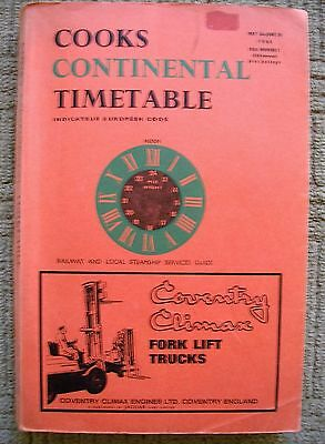 1968 Cooks Continental Timetable Railway & Local Steamship Services Guide
