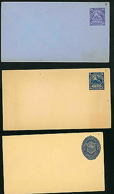 Nicaragua two unused stationery post cards and three envelopes