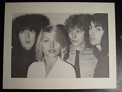 Blondie Promo Picture for Demo Bootleg Excellent Condition 8 1/ 2 x 11 B W 1975