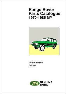 Range Rover Parts Catalogue 1970-1985 Official Land Rover Manual RR85PH NEW