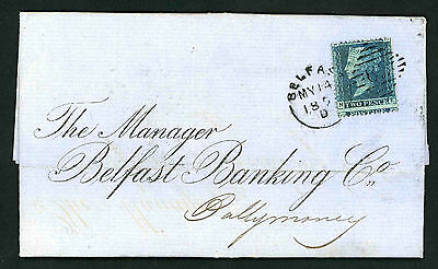 1859 entire Bankers letter from Belfast to Ballymoney County Antrim
