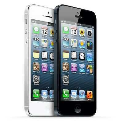 """Apple iPhone 5 16GB """"Factory Unlocked"""" Black and White WiFi iOS Smartphone"""