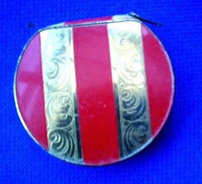 Collectable Unusual Powder Compact Fastens With A Zip
