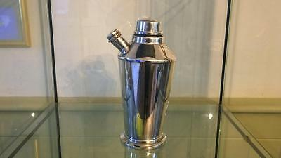 Stylish Art Deco Silver Plated Cocktail Shaker C 1920 1.5 Pint