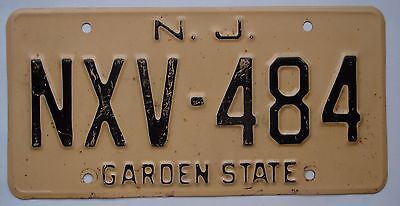 Ca. 1959 New Jersey License Plate