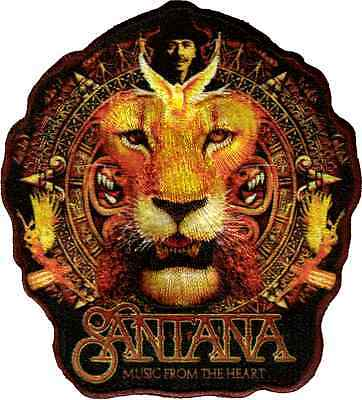 89089 Santana Music From the Heart Lion Animal Rock Music Sew Iron On Patch