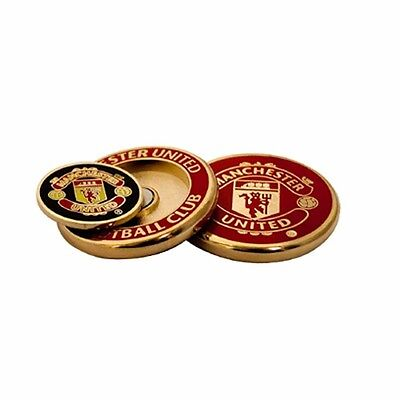Manchester United Football Club Crest Golf Ball Marker Duo with Free UK P&P
