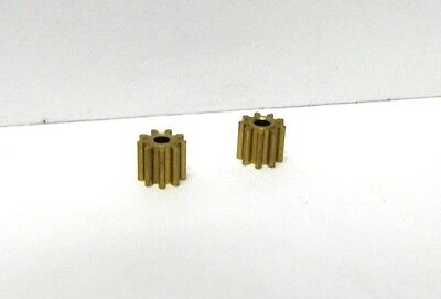 H&R Racing Products HR401 9 Tooth Brass Pinion Gear - Press Fit - 2PK