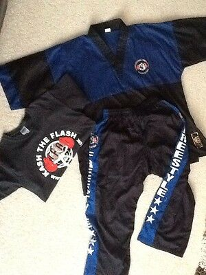 kickboxing trousers tunic and t shirt for IFA size 3/160