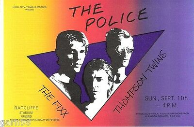 The Police Thompson Twins The Fixx Concert Handbill Flyer 1983 Sting
