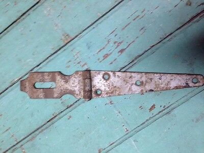 "Antique Vintage 10 1/8"" Rustic Gate, Barn Door, Shed, Strap Hinge Lock, Latch *"