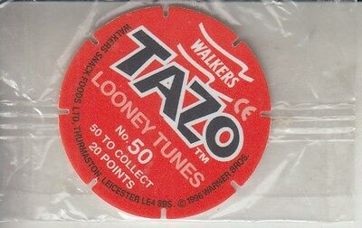 "Walkers Tazo Disc ""looney Tunes"" Still In Clear Wrapper - 1996"