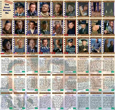The Great Escape movie Trading cards Steve McQueen Richard Attenborough