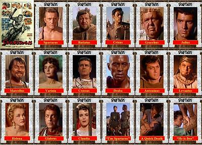 Spartacus Movie Trading Cards Kirk Douglas Tony Curtis Jean Simmons Olivier
