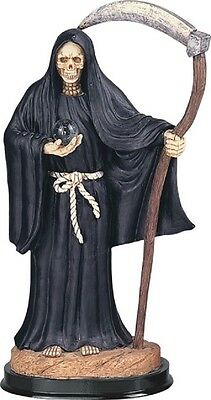 Santa Muerte Saint Death Grim Reaper in Black Halloween Statue Figurine New
